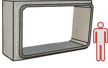 ELEMENTO SCATOLARE 300x150 L110