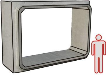 ELEMENTO SCATOLARE 350x200 L150